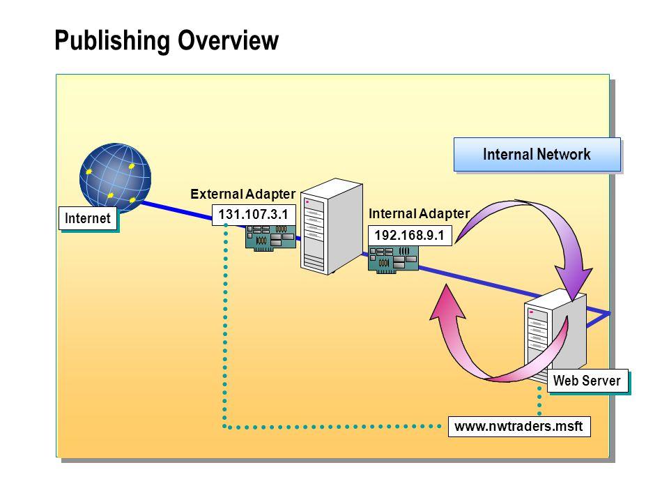  Configuring Server Publishing Publishing a Server Publishing a Mail Server Configuring the Message Screener