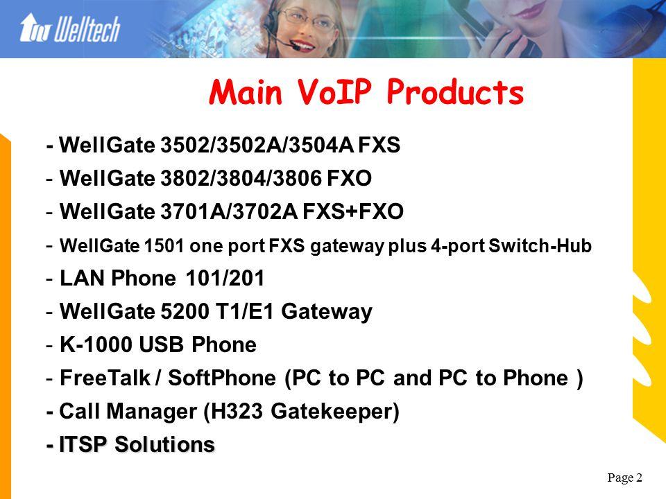 Page 1 http://www.welltech.com.tw VoIP Application Welltech Computer Co., Ltd. Date: September/04/2003