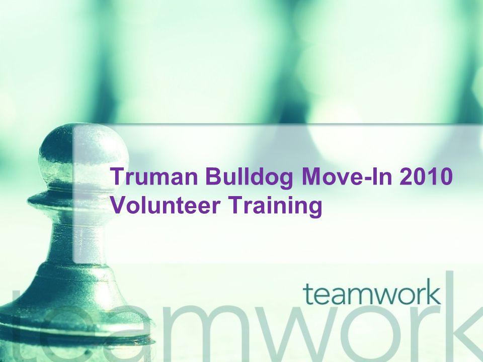 Truman Bulldog Move-In 2010 Volunteer Training
