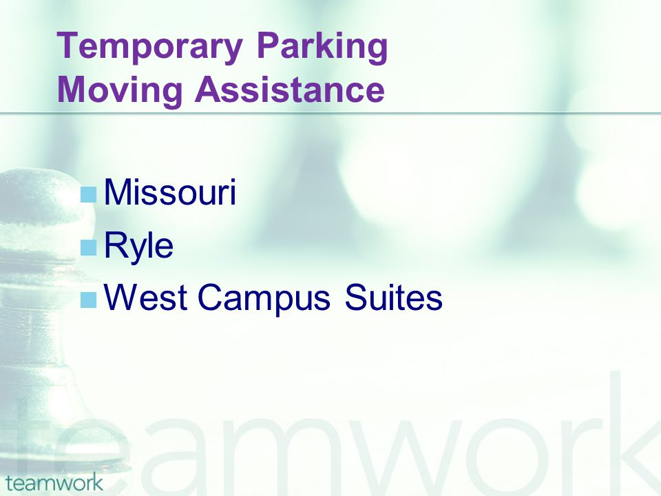 Temporary Parking Moving Assistance Missouri Ryle West Campus Suites