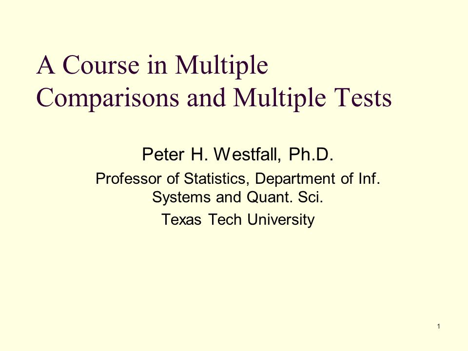 122 Hypotheses and Test Statistics