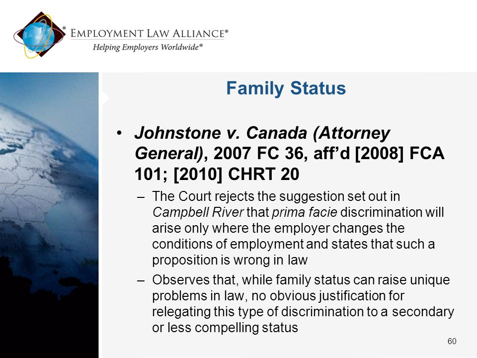 Family Status Johnstone v.