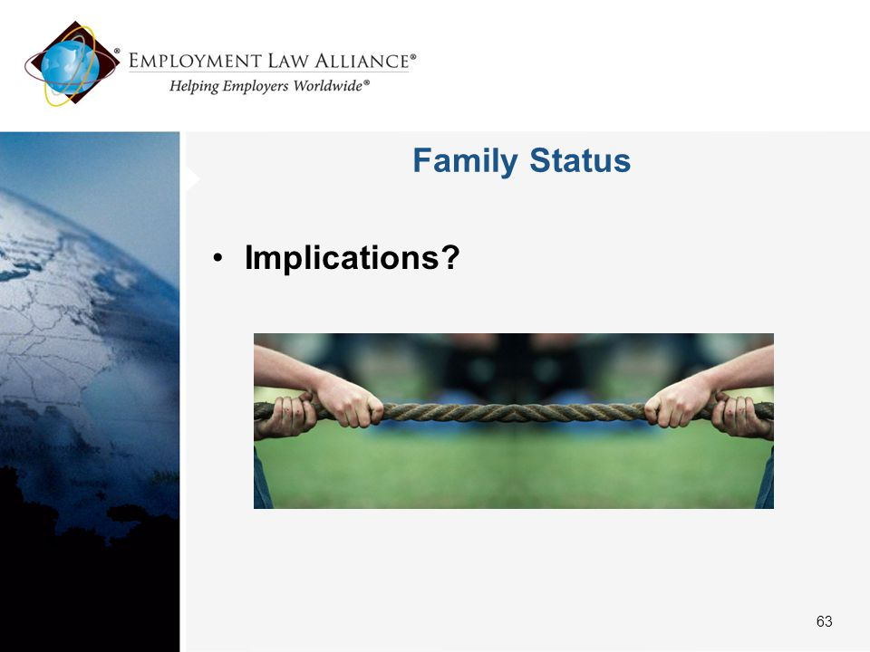Family Status Implications 63