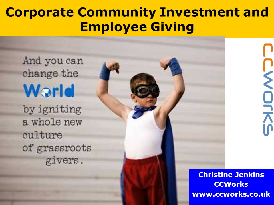 www.ccworks.co.uk What else is new.How will large employers get involved.