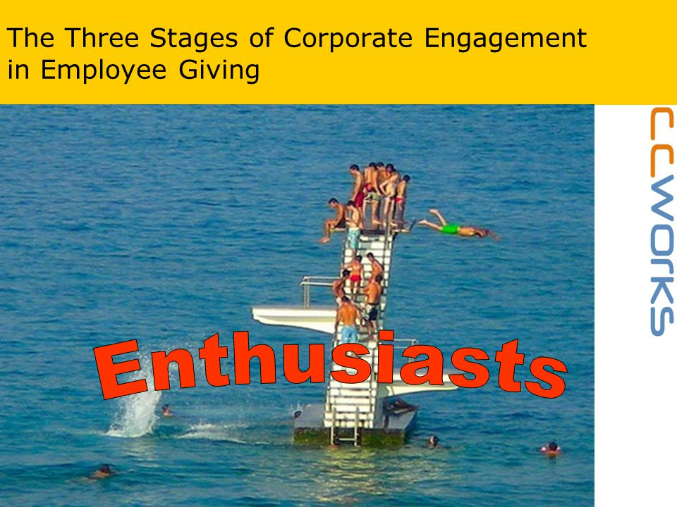 www.ccworks.co.uk The Three Stages of Corporate Engagement in Employee Giving