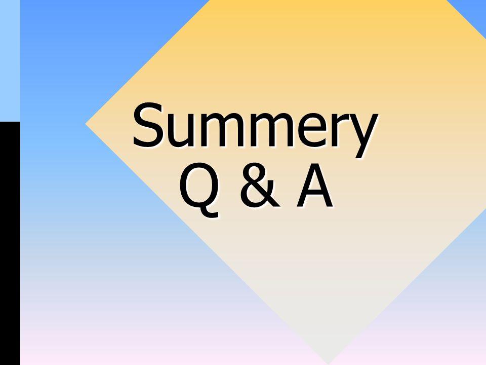 Summery Q & A