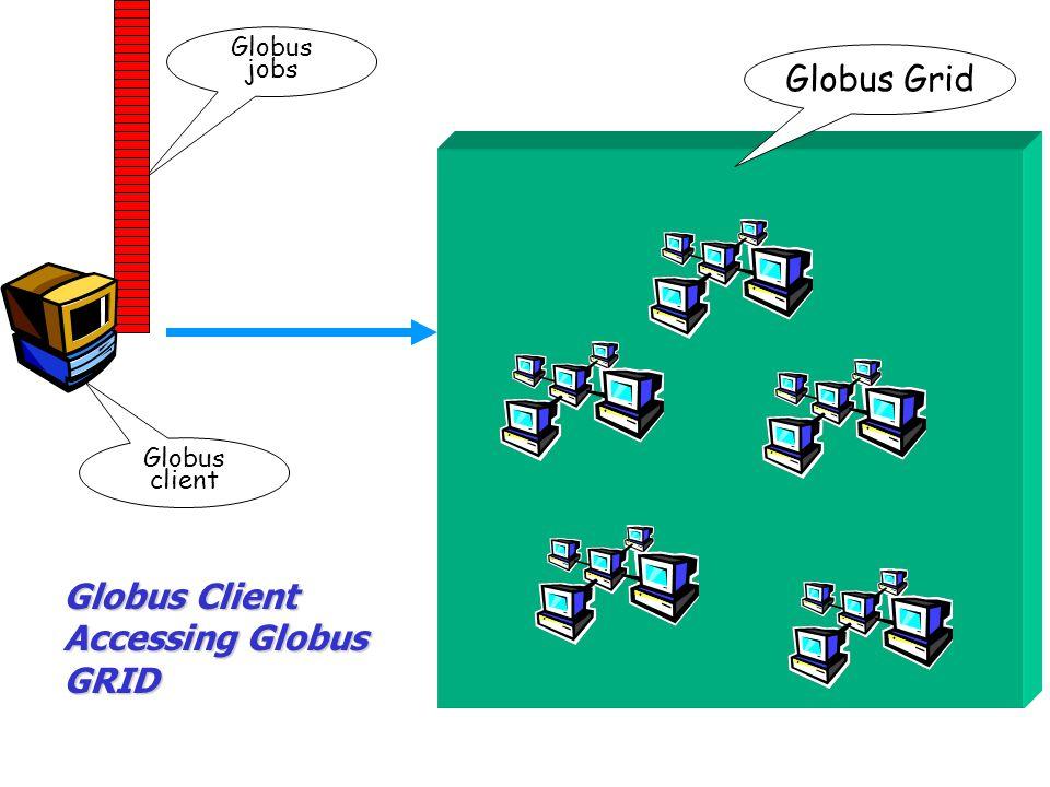 Globus jobs Globus client Globus Client Accessing Globus GRID Globus Grid