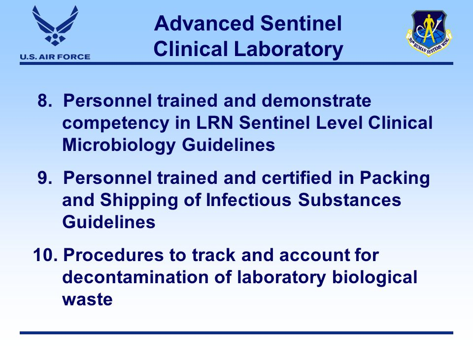 Advanced Sentinel Clinical Laboratory 8.