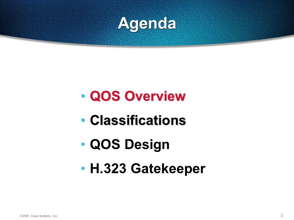 3 © 2000, Cisco Systems, Inc.Why QoS. Larger Input i.e.