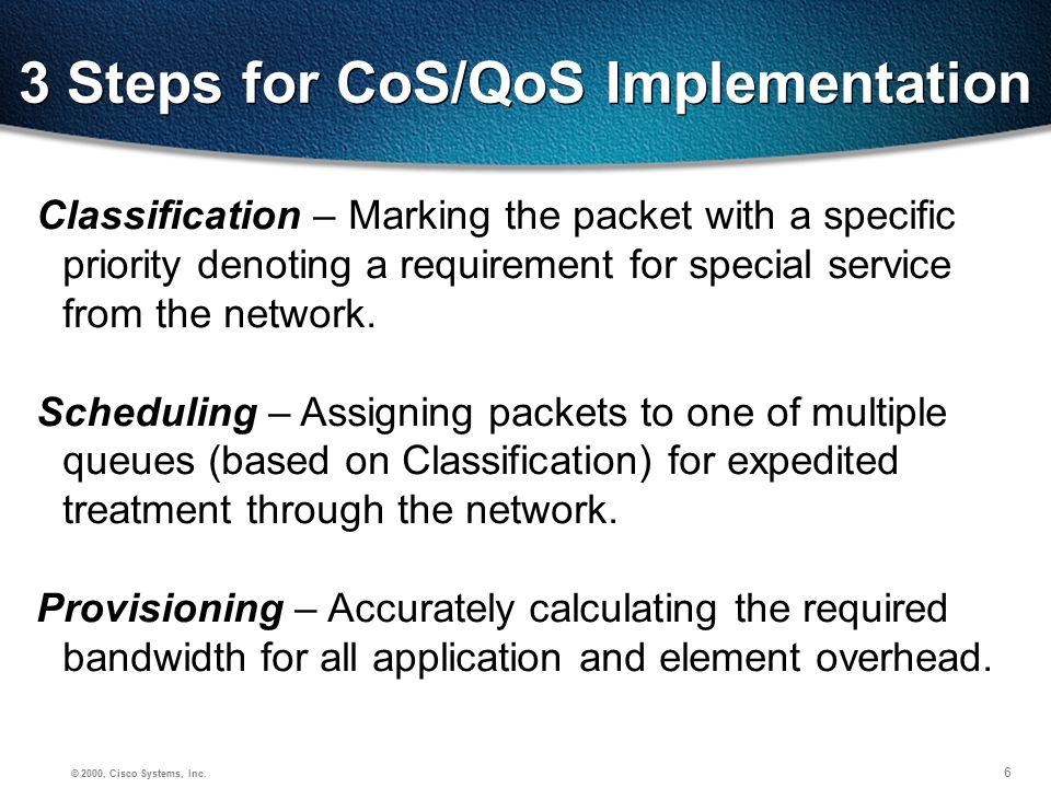17 © 2000, Cisco Systems, Inc.Video Classification Cisco AVVID Classification, Cont.