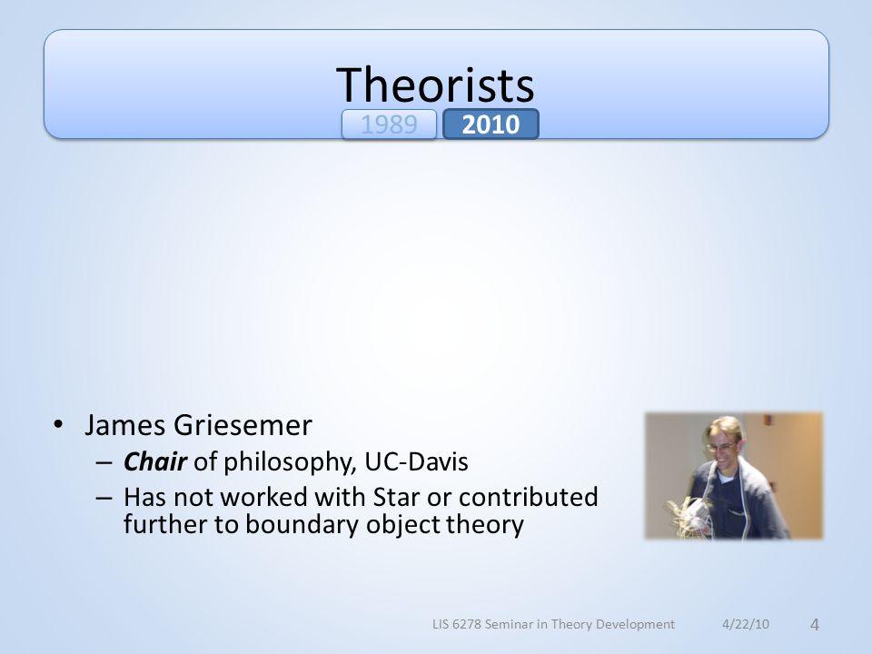 Theorists Susan Leigh Star – UC-Irvine, UC-San Diego, Univ.