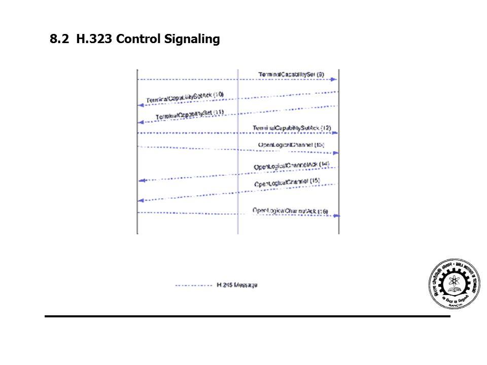 8.2 H.323 Control Signaling
