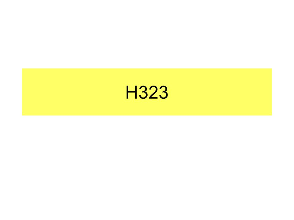 Who Defined H.323.