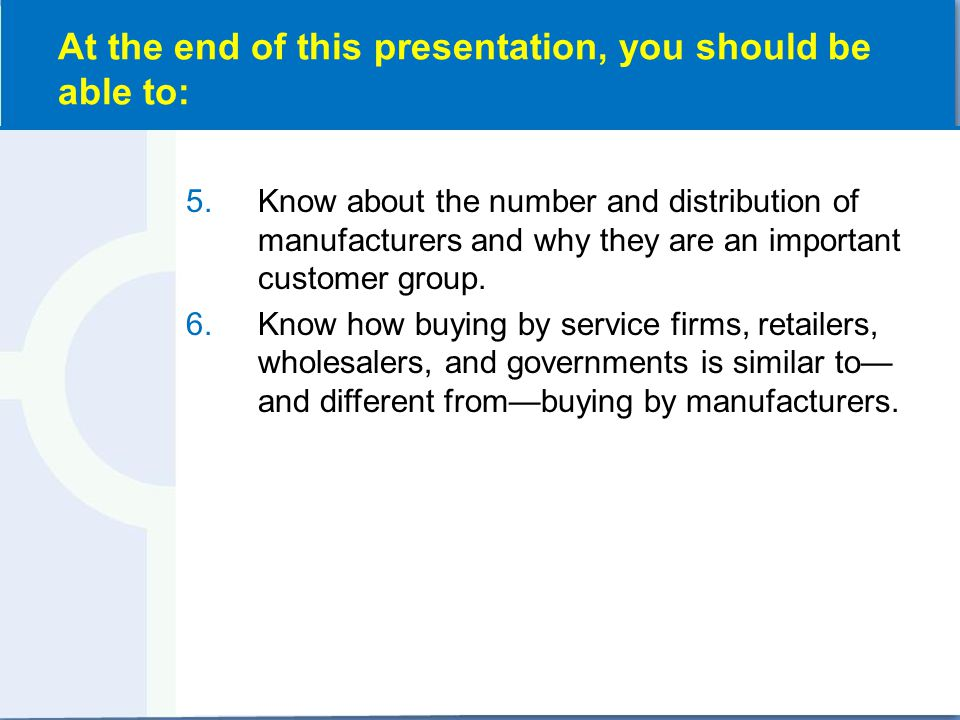 Understand Business & Organizational Customers for Marketing Strategy (Exhibit 7-1)