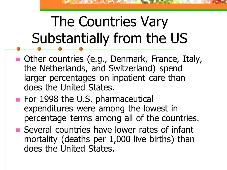 Several countries also have higher life- expectancies at birth.
