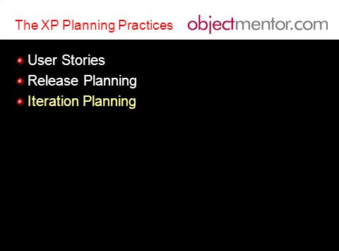 The XP Planning Practices User Stories Release Planning