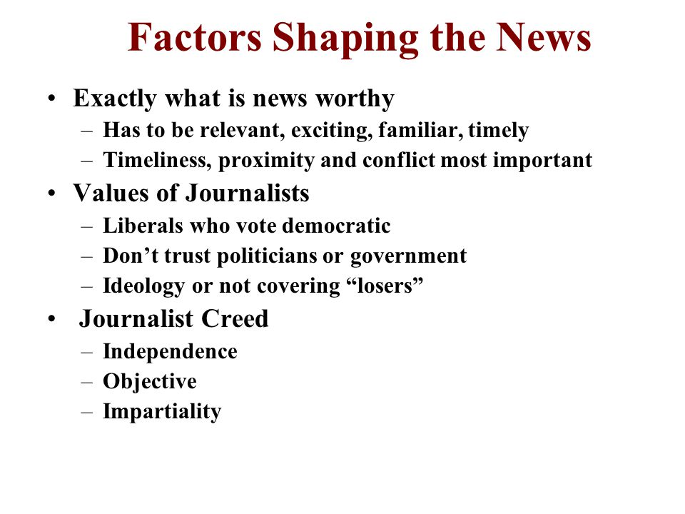 Tools of the Trade The individuals or groups who are subjects of a news story can manipulate the coverage by determining how or when the story is told