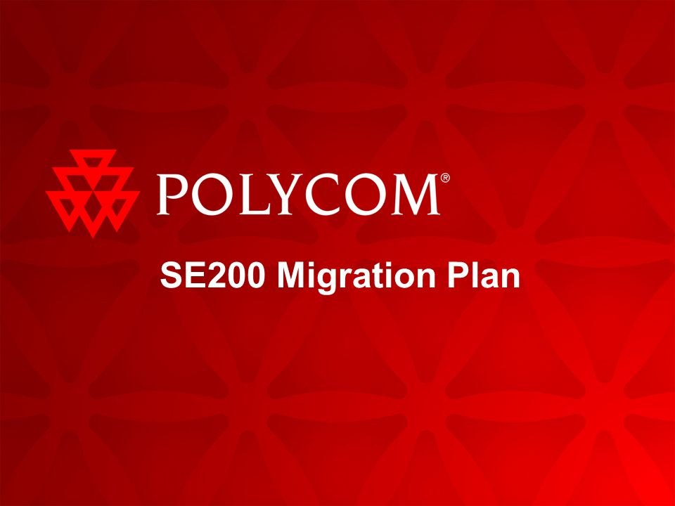 SE200 Migration Plan