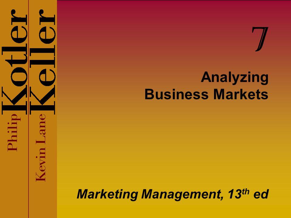 Analyzing Business Markets Marketing Management, 13 th ed 7