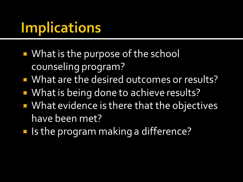  What is the purpose of the school counseling program.