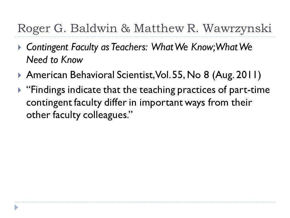 Roger G. Baldwin & Matthew R.
