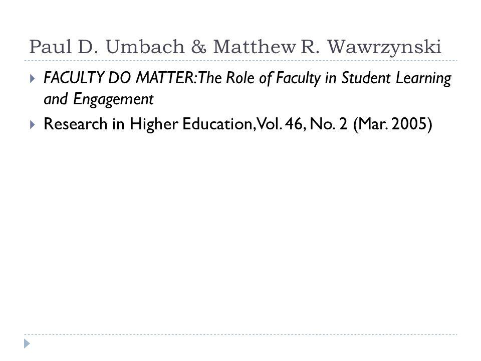 Paul D. Umbach & Matthew R.