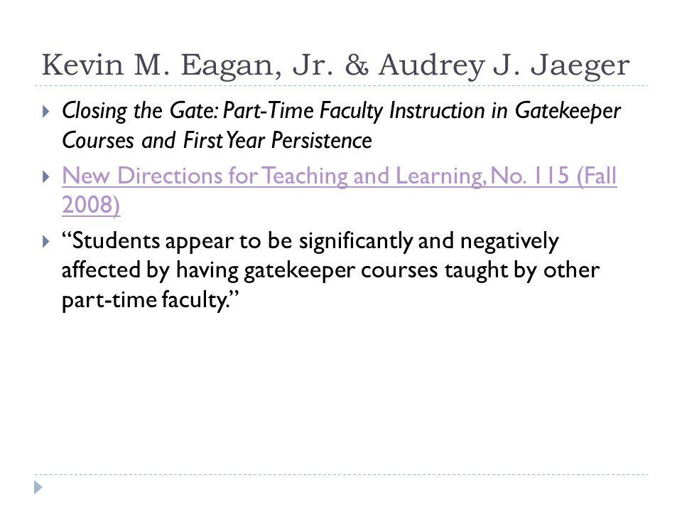 Kevin M. Eagan, Jr. & Audrey J.