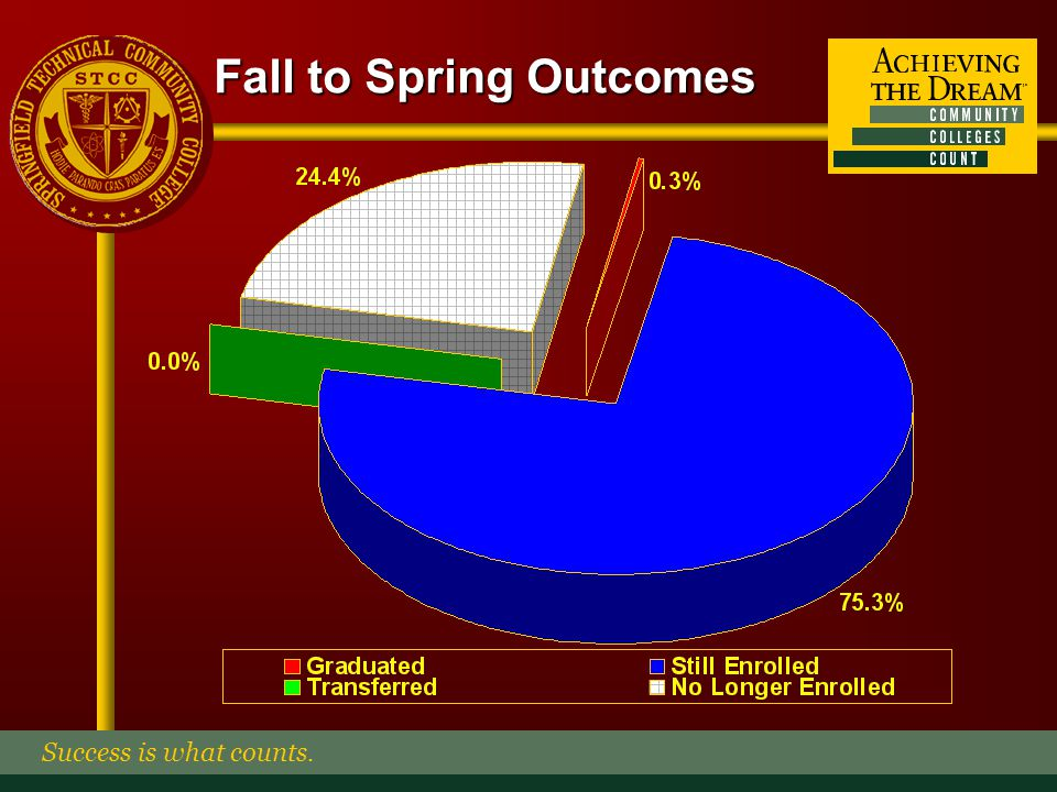 Fall to Spring Outcomes By Gender Success is what counts.