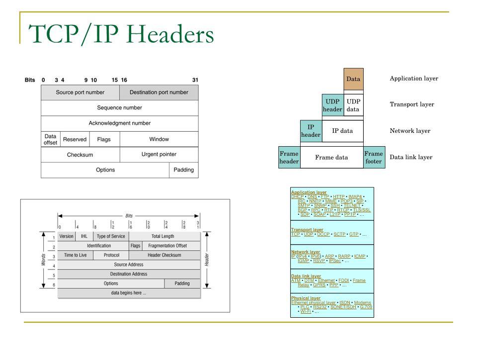 TCP/IP Headers