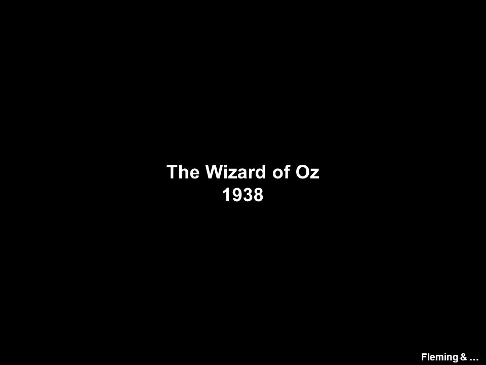 The Wizard of Oz 1938 Fleming & …