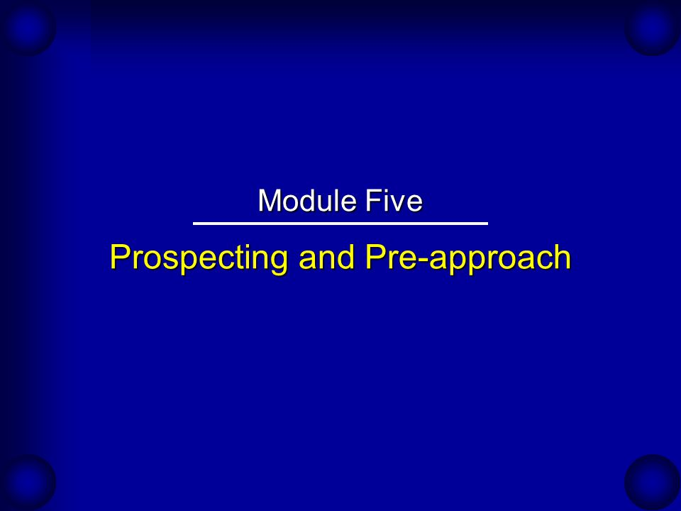 Improving Productivity Through Prospecting An Expert's Viewpoint: ...