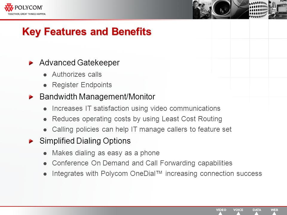 ISDN Specific Advantages Alternate Routing PathNavigator CAN route via ISDN if IP bandwidth is unavailable Gatekeepers cannot route calls via ISDN if the IP path is blocked Lower ISDN costs as fewer DID lines required in the enterprise Least-Cost Routing PathNavigator can use a least cost routing mechanism using IP for major portions before calling over ISDN Gatekeepers do not understand the ISDN world Policies to prevent unauthorized ISDN dialing