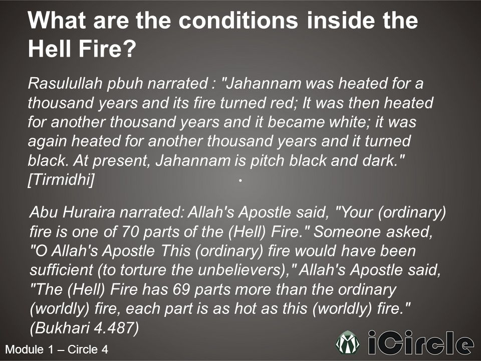 What are the conditions inside the Hell Fire.