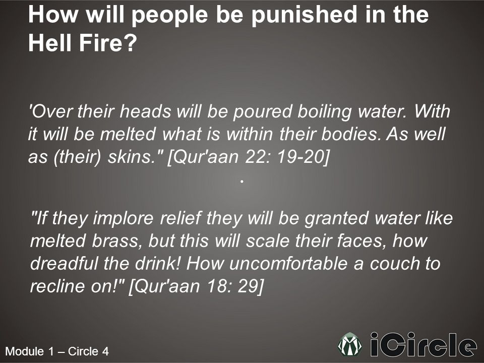 Module 1 – Circle 4 How will people be punished in the Hell Fire.