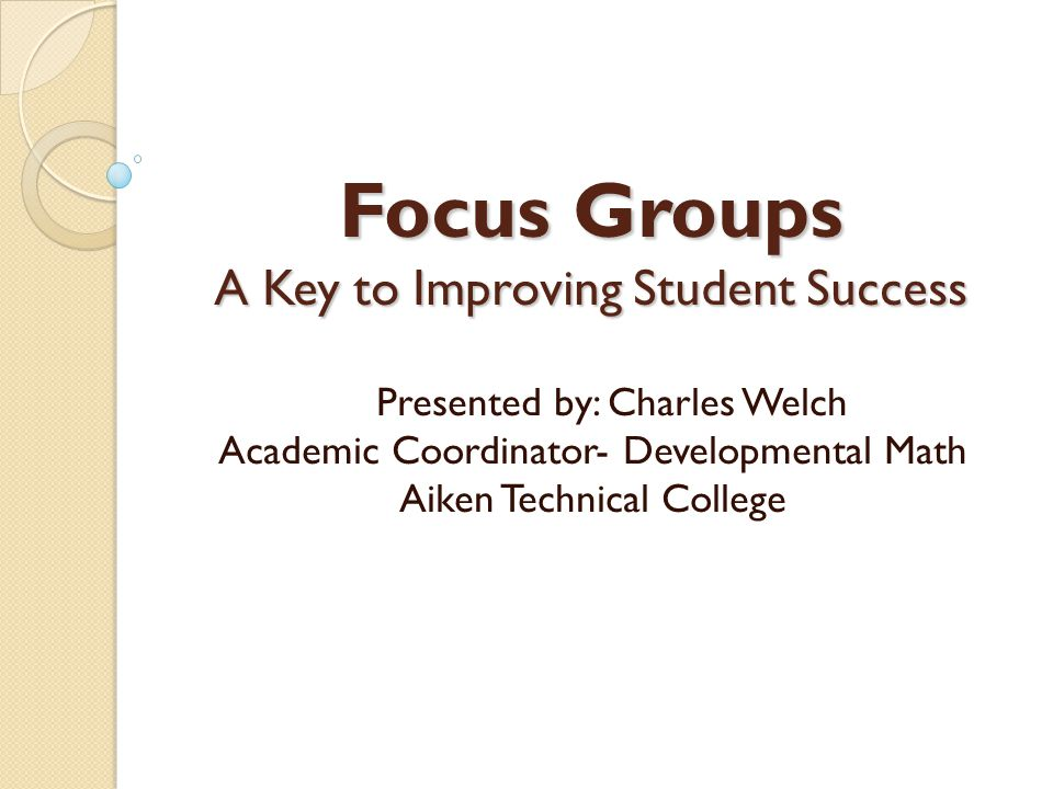 Student Success is What Counts.