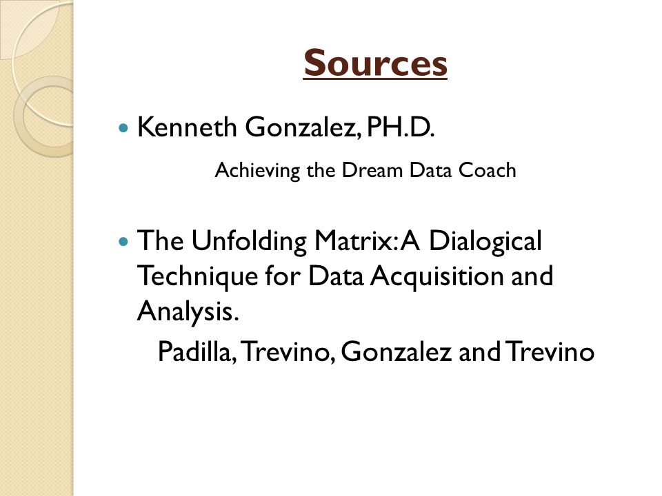 Sources Kenneth Gonzalez, PH.D.