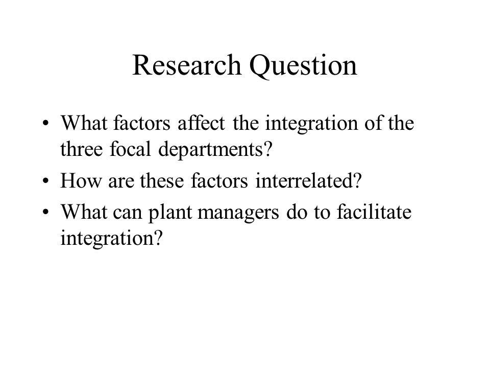 Research Hypotheses H5: HR Strategies has a direct effect on Communication H6: HR Strategies has a direct effect on Internal Integration H7: Information Technology has a direct effect on Communication H8: IT has a direct effect on Internal Integration H9: Communication has a direct effect on Internal Integration