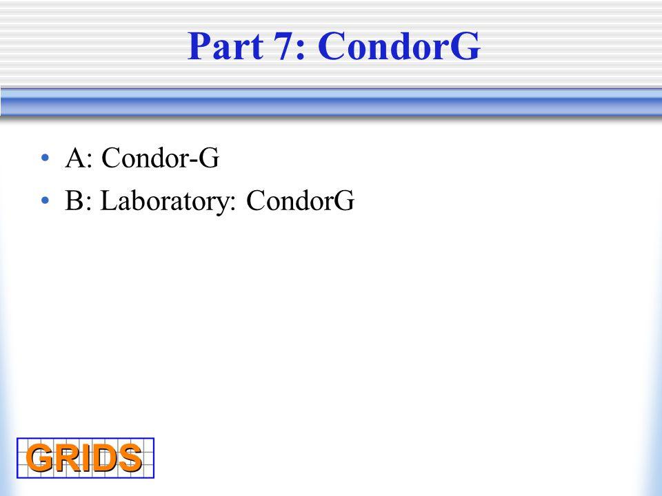 A: Condor-G B: Laboratory: CondorG