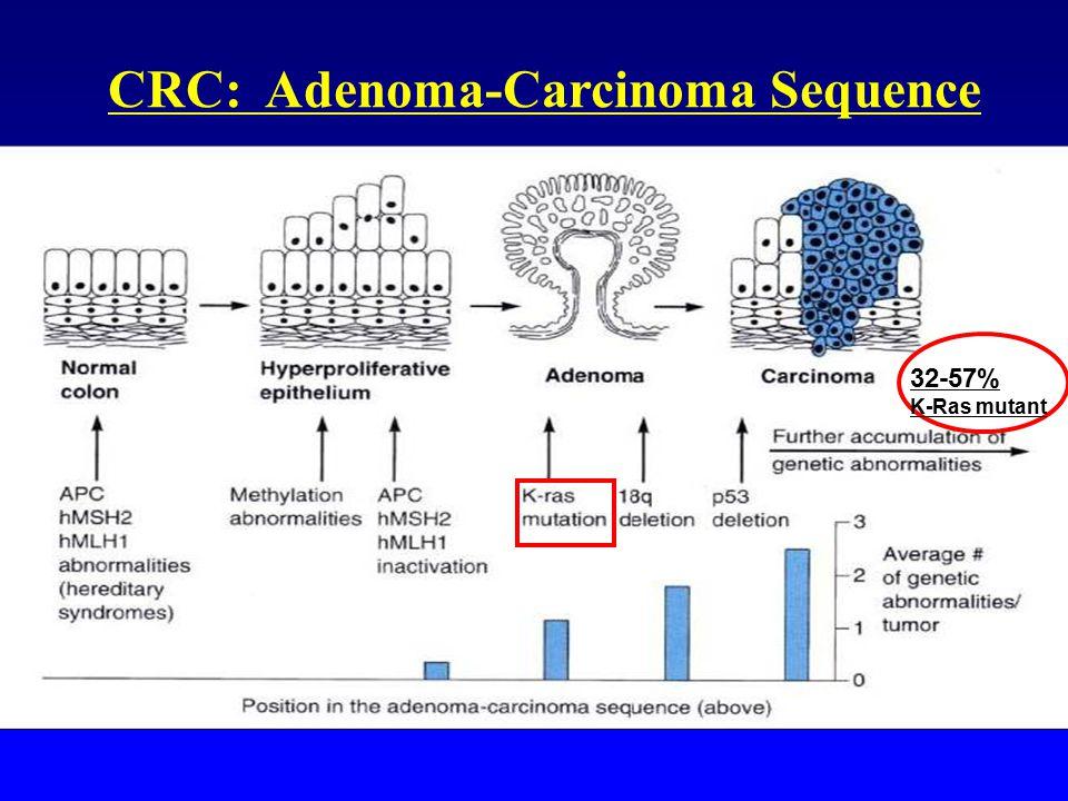 CRC: Adenoma-Carcinoma Sequence 32-57% K-Ras mutant