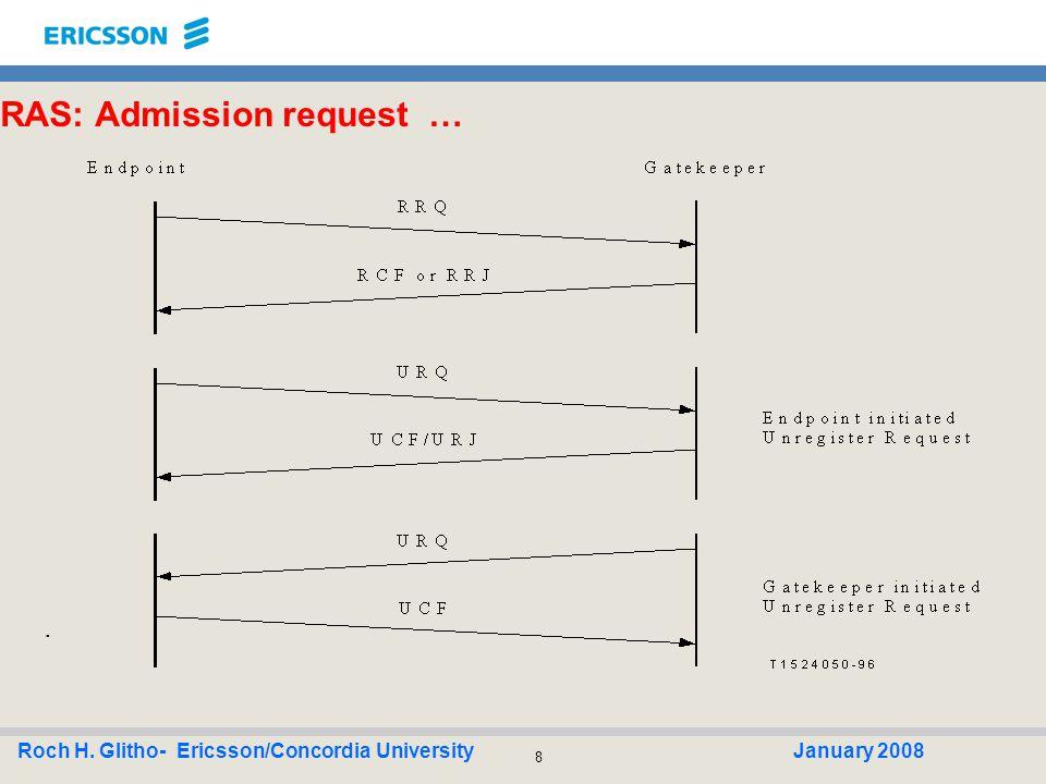 39 Roch H.Glitho- Ericsson/Concordia UniversityJanuary 2008 Soft-switches : Overview.