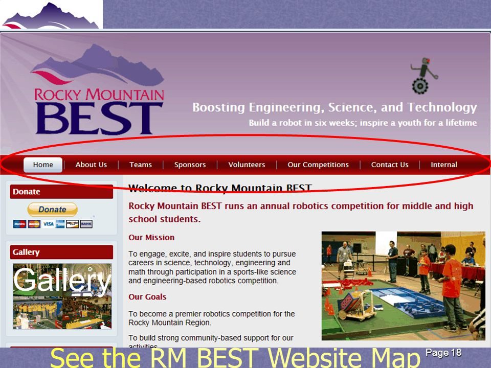 Rocky Mountain BEST website Page 18 See the RM BEST Website MapRM BEST Website Map