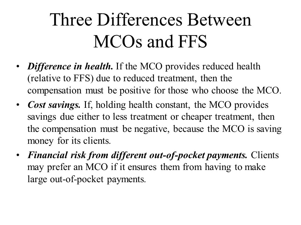 Managed Care Contracts with Hospitals - continued Zwanziger and Meirowitz (1998) examine the determinants of plan contracts with hospitals in a study that looks at the three categories.