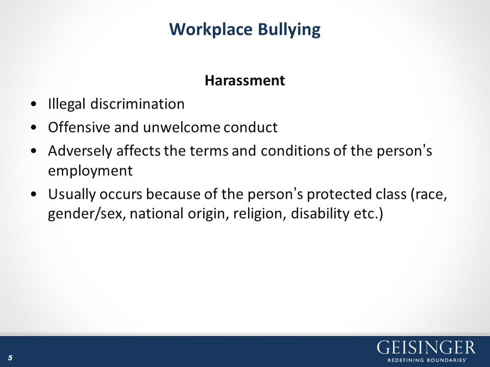 16 Workplace Bullying Over Time Respondents in two surveys indicated that they endured bullying for 18.6 months and 16.5 months Chronic abuse over two years in duration show even deeper and more far-ranging effects