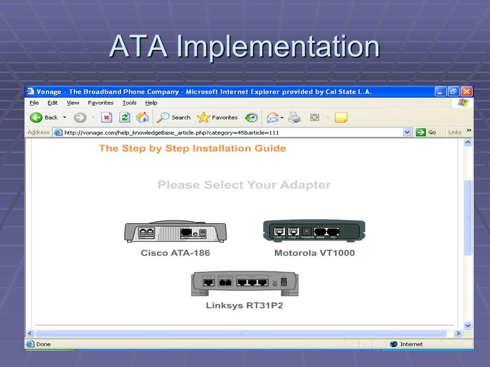 ATA Implementation
