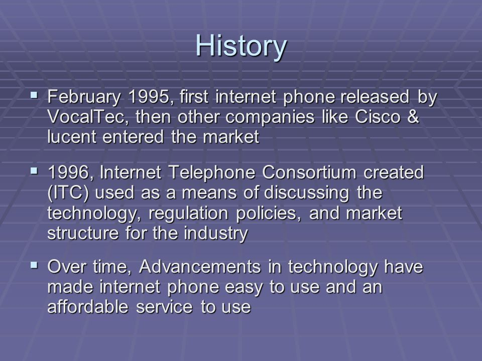 What is Internet Telephony.