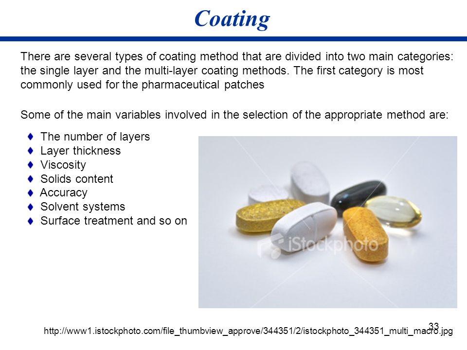 33 Coating http://www1.istockphoto.com/file_thumbview_approve/344351/2/istockphoto_344351_multi_macro.jpg There are several types of coating method th