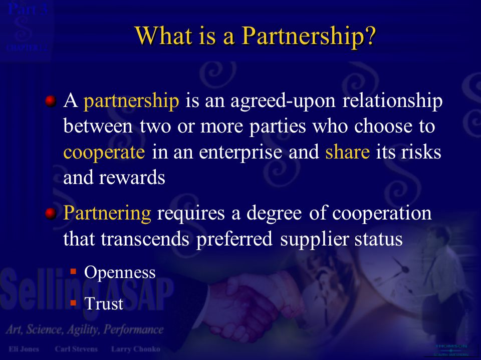3 12 What is a Partnership.