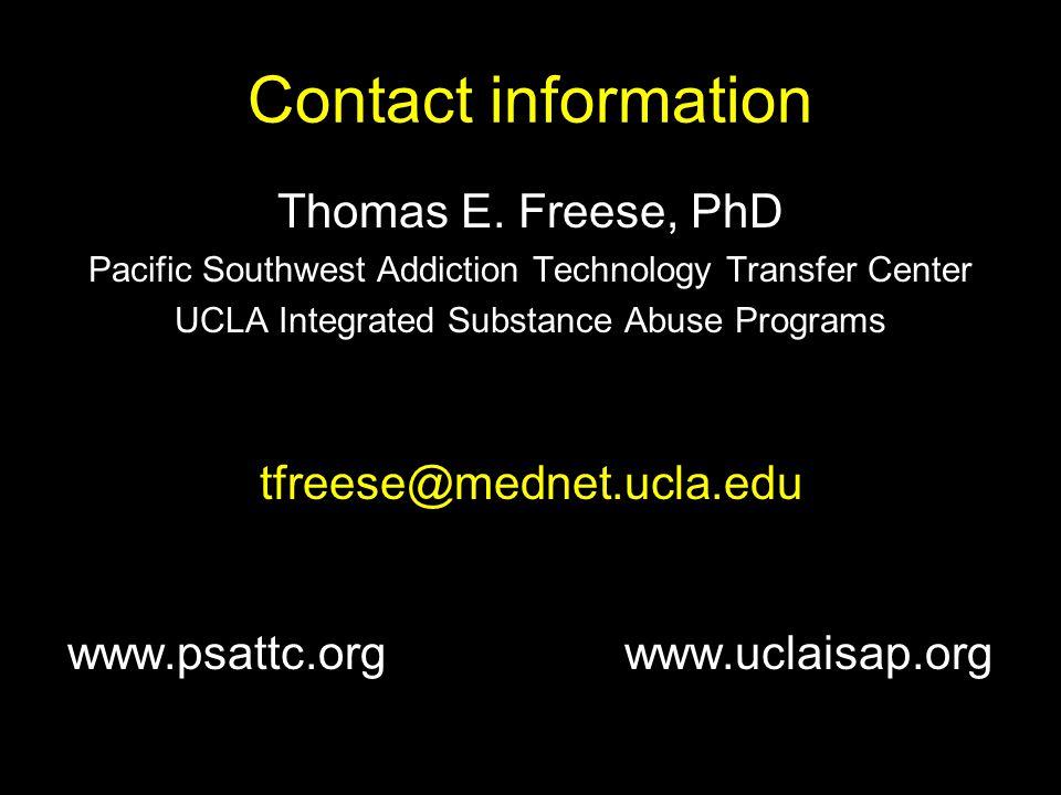 Contact information Thomas E.