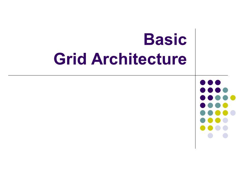 Basic Grid Architecture
