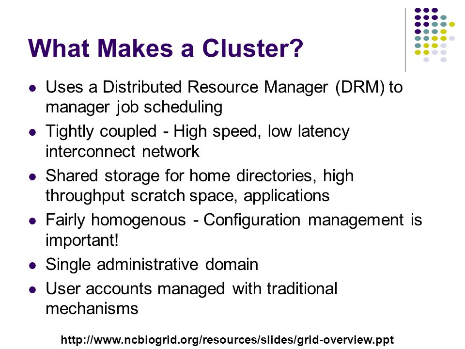 What Makes a Cluster.